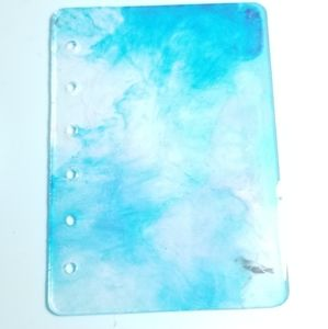 Resin notebook cover